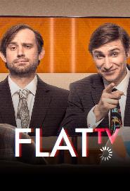 Flat TV poster